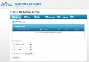 myaflac.com registration page